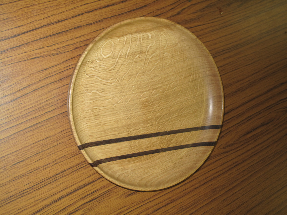 A two colour laminated platter by Richard Jones