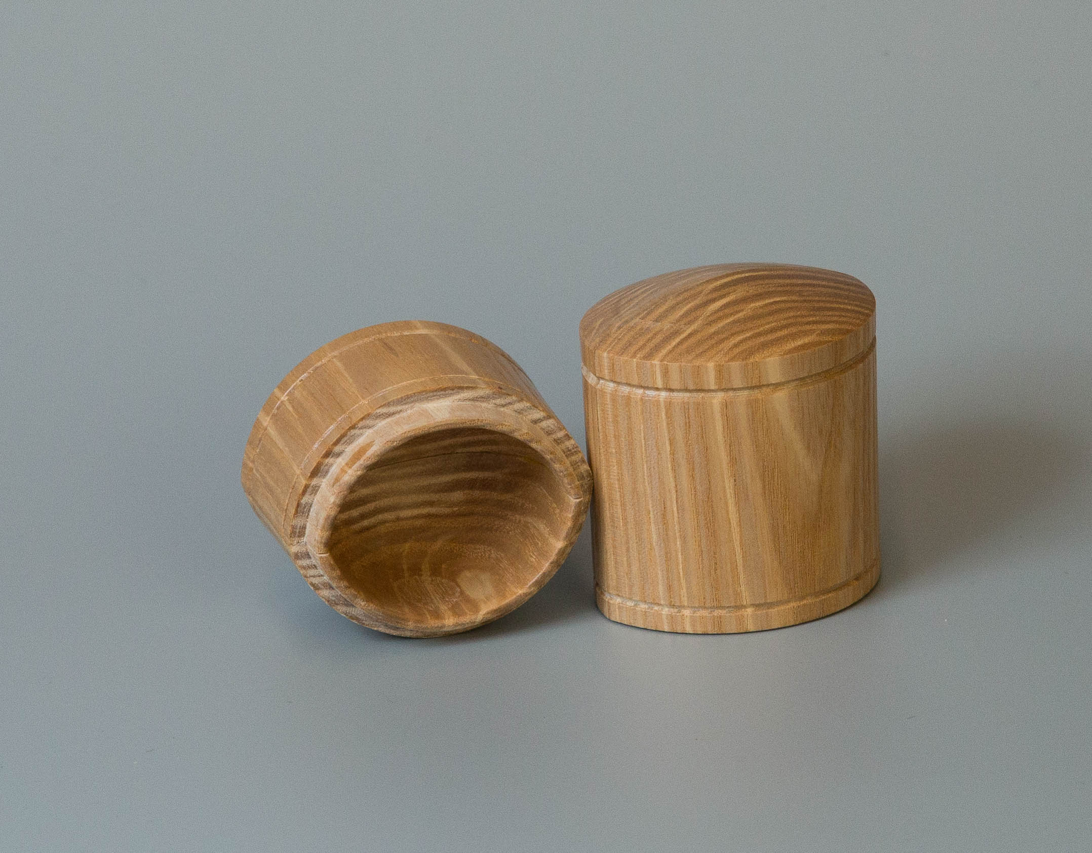 A small oval box by Tim Holmes